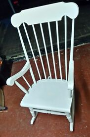 Painted Wooden Rocking Chair