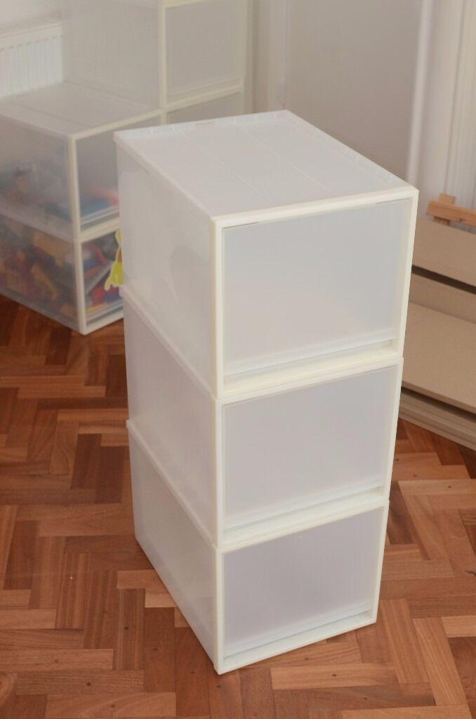 Muji Pp Storage Boxes 3 X Shoe Box Large Deep In