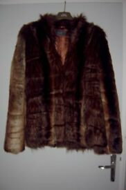 Ladies Faux Fur Jacket size 16