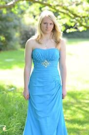Blue prom/bridesmaid dress 8/10