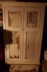 double pine wardrobe with draw