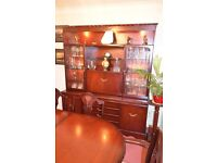 Rosewood Dinning/Living room furniture set with hand carved rope effect edging