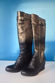 Dune Ladies Knee High Boots - Size 4 UK (Size 36 Europe)