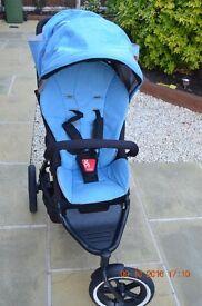 Phil & TedsNavigator Stroller with Sky Blue hood and seatliner - USED