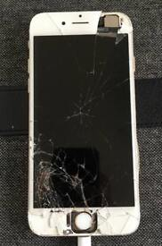 iPhone 6s 32GB Gold Damaged Screen