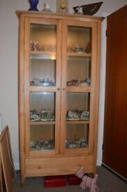 Bergen Oak Display Cabinet