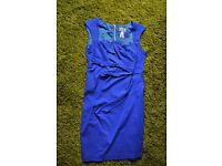 Lipsy blue pleated dress - Size 16 - Worn once