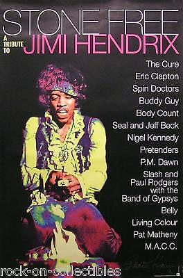 Jimi Hendrix 1993 Stone Free Original Promo Poster