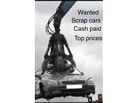 Scrap cars wanted cash paid call: 07804485893