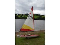 Topper sailing dinghy and trolley ideal first boat