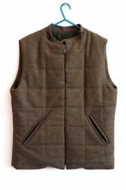 Albam Garden Hunting Wool Gilet Bodywarmer Waistcoat WindStopper Breaker Brown Medium Barbour £70
