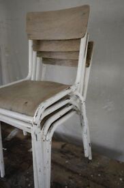 4 x vintage french cafe chairs