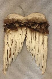 Stunning Gold Feathers Angel Wings Decoration