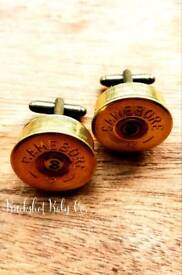 Rustic Country Wedding Shotgun Cufflinks