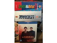 Bluray supernatural season 1-10+ dvd boxset saved by the bell complete leverage complete £90
