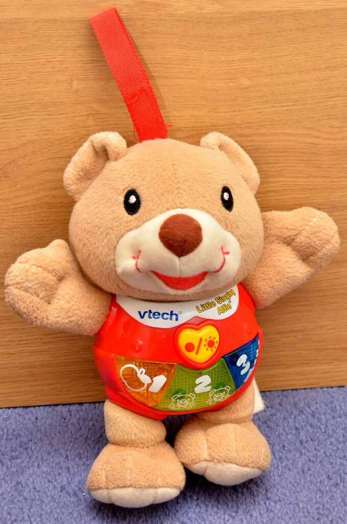V-Tech Little Singing Alfie Electronic Kids Toy Bear Batteries Included