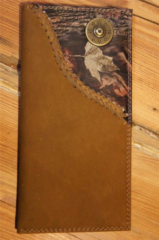 ZEP-PRO 12 gauge SHOTGUN SHELL  Roper Leather Fence Row Camo Wallet BURLAP BAG