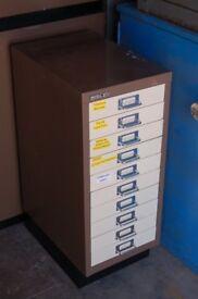 vintage industrial multi drawer cabinet Bisley
