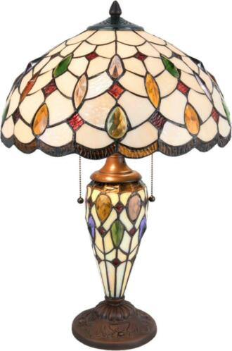 LumiLamp - Tafellamp Tiffany - 5LL-5182 - Multi