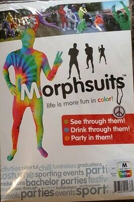 Adult TIE DYE Morph Original Morphsuits party costume MEDIUM - Tie Dye Morph Suit