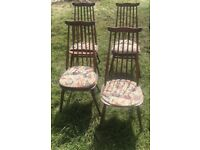 Ercol GOLDSMITH WINDSOR dining chairs x4