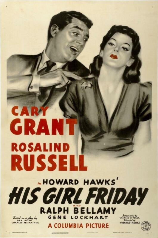 "HIS GIRL FRIDAY - 11""x17"" Movie Poster Print - Borderless - Glossy - USA Seller"