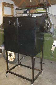 Mobile Cabinet 2 Door Cupboard Workshop Storage