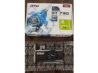 MSI Nvidia Gt730 Fan Graphics Card (1GB, 64 Bit, DDR5, PCI-E)