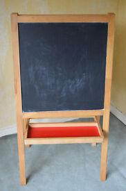 Childrens Stand Alone Black / Chalk Board & white Board.