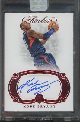 2018 Panini Flawless USA Basketball Kobe Bryant 09/15 Auto Autograph