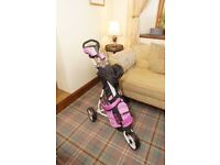 Callaway XJ Junior Golf Clubs & Trolley - can sell separately