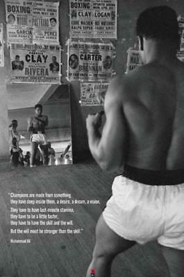 Muhammad Ali Gym Champions Motivational Quote Boxer Boxing Photo Poster 24X36