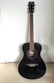 Black Vintage V300BK acoustic guitar
