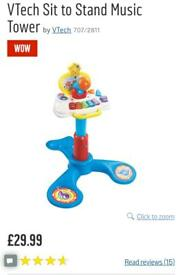 VTech Sit to Stand Music Tower piano toy