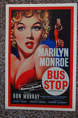 Bus Stop Lobby Card Movie Poster Marilyn -