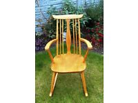Small Beech Rocking Chair Ercol Style
