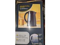 Brand new Black illuminating jug kettle