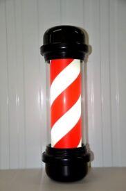 Black barber pole led illuminated Rotating Stripe Ultra high quality,LED With Black Frame