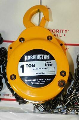 New Harrington Cf010-20 1 Ton 20 Ft Lift Manual Hand Chain Hoist Fast Ship