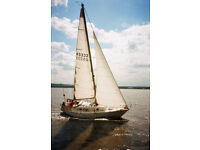 SAILING BOAT. CARTER 30FT. CRUISER/RACER. PRICE REDUCED FOR QUICK SALE. RELIABLE BETA 16HP ENGINE.
