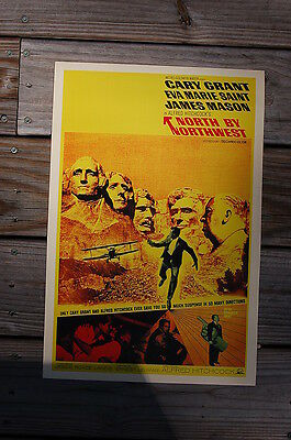 North By Northwest Lobby Card Movie Poster Cary Grant Eva Mary Saint