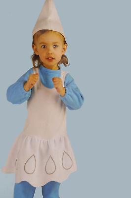 Girls The Smurfs SMURFETTE Halloween Toddler Costume Baby Infant 6 12 months NEW