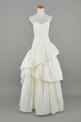 J.CREW $2,400 ESCALIER COTTON SILK FAILLE WEDDING BALL GOWN 2 IVORY LONG DRESS