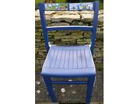 Refurbished old school chair