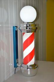 Pole Sign Light Barber LED With Top Led Light Pole Salon Sign Light Large For Barber shops Salon