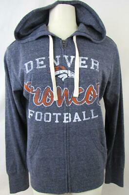 Denver Broncos Womens Medium Touch Screened Full Zip Hooded Sweatshirt ADEB 82 Denver Broncos Womens Sweatshirts