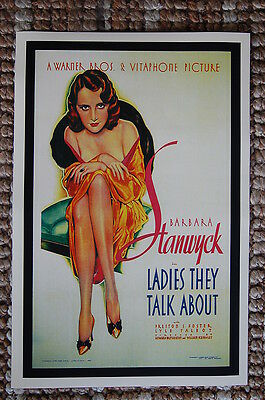 Lady They Talk About Lobby Card Movie Poster Barbara Stanwyck - Lady Movie Poster