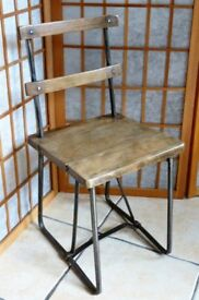 Vintage industrial style cute childs chair
