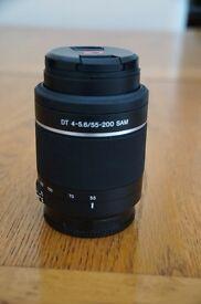Sony Alpha Camera Lens 55-200 SAM DT 4-5.6.