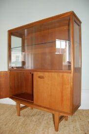 Mid century Teak vintage display cabinet